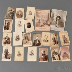 Nineteen Civil War Carte-de-visites and Two Cabinet Cards