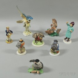 Eight Porcelain Figures