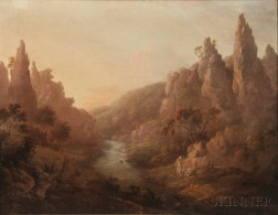 Alexander Nasmyth (Scottish, 1758-1840)      Mountainscape with River
