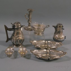 Eight Pieces of Mostly European Silver Tableware