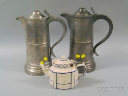 Castleford-type Teapot and a Pair of Flagons
