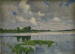 Wilfred Thompson (British, 19th/20th Century)      Marsh and Sky View.