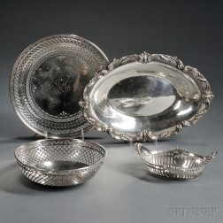 Four American Sterling Silver Dishes
