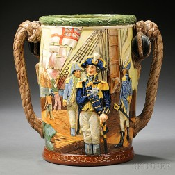 Royal Doulton Commemorative Lord Nelson Loving Cup