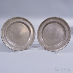 Two Pewter Plates