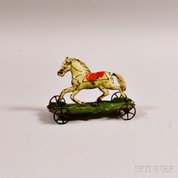 Painted Tin Horse Pull-toy
