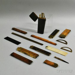 Collection of 19th Century Measuring and Drafting Instruments
