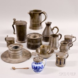 Fourteen Mostly Pewter Items