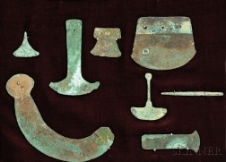 Eight Assorted Archaic Bronze Tools