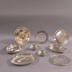 Ten Pieces of Sterling Silver Hollowware