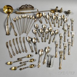 Group of American Sterling Silver Flatware and Tableware
