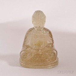 Clear Glass Figure of Buddha