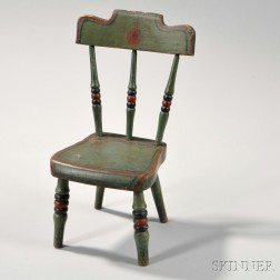 Miniature Paint-decorated Tablet-back Chair