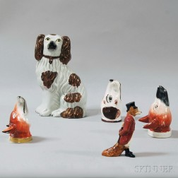 Group of Mostly Staffordshire Figural Items