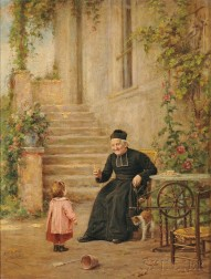 Vincent Jean Baptiste Chevilliard (French, 1841-1904)      A Treat for Baby