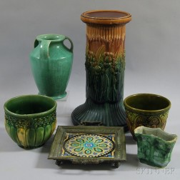 Six Pieces of Art Pottery