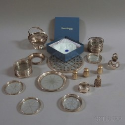 Group of Sterling Silver and Silver-mounted Tableware