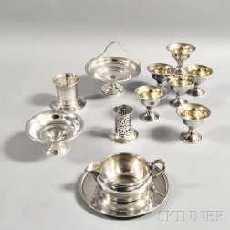 Twelve Pieces of Sterling Silver Hollowware