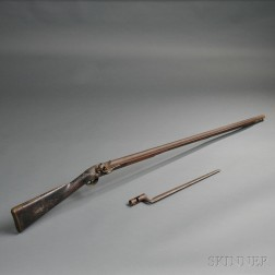 Flintlock Massachusetts Militia Musket and Bayonet by Alvan Pratt