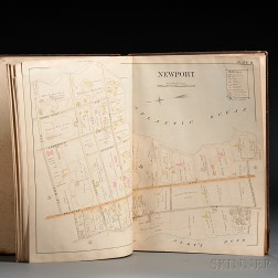 Rhode Island, Newport and Providence, Atlases and Other Books, Seven Volumes.