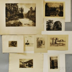 Continental School, 19th/20th Century      Twenty-three Unframed Engravings and Etchings