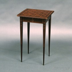 Parquetry-inlaid Mahogany Stand