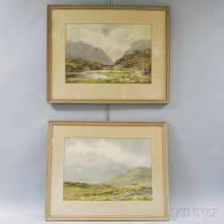 Frank J. Egginton (British, 1908-1990)      Two Watercolors:   The Gap of Dunloe, Killarney