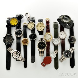 Sixteen Quartz Wristwatches by Various Makers