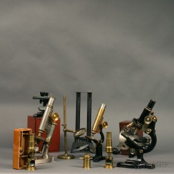 Collection of Seven Microscopes