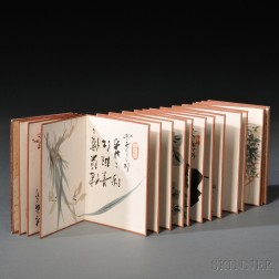 Portable Painting Album and Two Hanging Scrolls