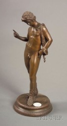 Small Italian Bronze Grand Tour Figure of Young Dionysius