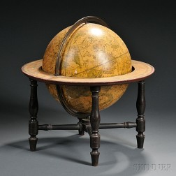 12-inch Celestial Globe Marked T. Harris & Son