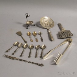 Small Group of Mostly European Silver Flatware