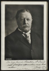Taft, William Howard (1857-1930) Photograph Signed, 20 August 1912.