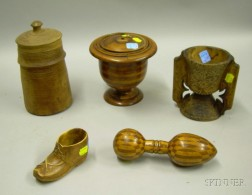 Group of Small Wooden Items