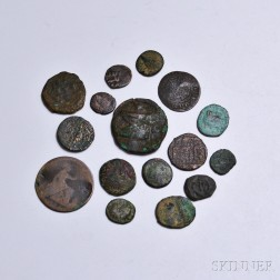 Sixteen Mostly Ancient Coins.