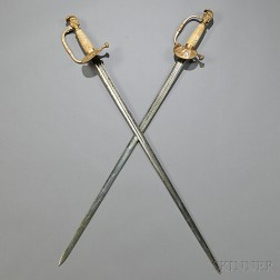 Two Knight's-head Pommel Swords