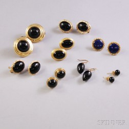 Small Group of Mostly Gold and Onyx Jewelry