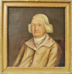 Anglo/American School, 18th Century       Portrait of a Man with Powdered Wig.