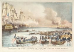 Nathaniel Currier, publisher (American, 1813-1888)    Landing of the American Forces under Gen'l Scott at Vera Cruz March 9th 1847.
