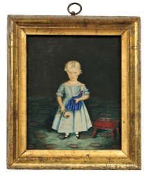 Miniature Portrait of a Girl with a Doll