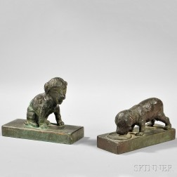 Edith Barretto Stevens Parsons (American, 1878-1956)      Puppies/A Pair of Bookends (Seated
