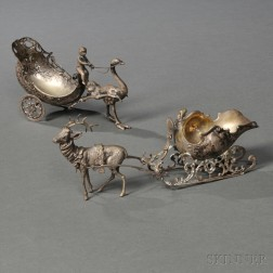 Two Continental Silver Figural Pieces