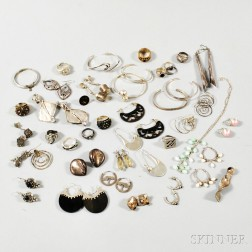 Group of Mostly Sterling Silver Modern and Contemporary Jewelry