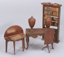 Seven Pieces of Tynie-Toy Dollhouse Furniture