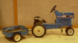 Ertl Ford TW 5 Painted Cast Metal Pedal Tractor with Trailer