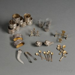 Assorted Group of Silver Tableware