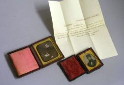 Two Early Photographs of Timothy Potter and a Handwritten Marriage Proposal