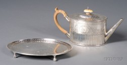 Victorian Silver Teapot with Associated Edward VII Teapot Stand