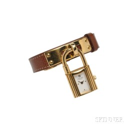 """Lady's Gold-plated Steel """"Kelly"""" Wristwatch, Hermes"""